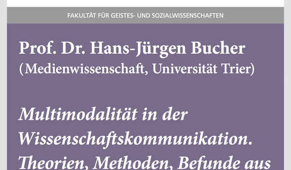"""#wmklauscht: Hans-Jürgen Bucher – """"Multimodalität in der Wissenschaftskommunikation. Theorien, Methoden, Befunde aus medienwissenschaftlicher Sicht"""""""