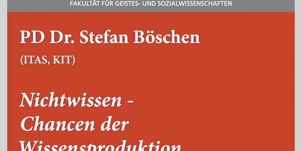 """#wmklauscht: Stefan Böschen – """"Nichtwissen. Chancen der Wissensproduktion, Risiken der Wissenskommunikation"""""""