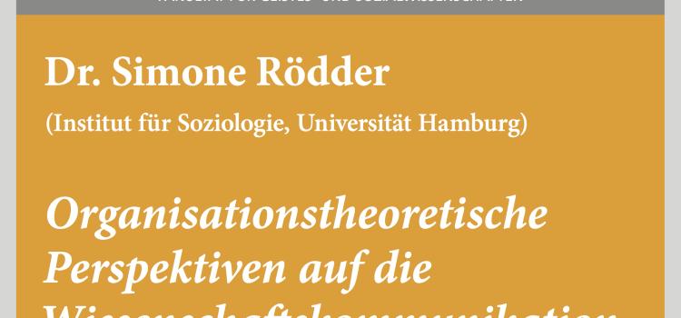 """#wmklauscht: Simone Rödder – """"Organisationstheoretische Perspektiven auf die Wissenschaftskommunikation"""""""