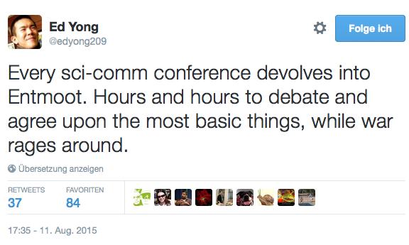 Tweet von Ed Yong zu Entmoot