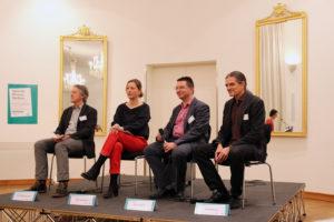 Paneldiskussion bei Abendveranstaltung