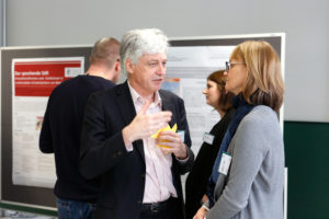 Diskussionen bei Postersession