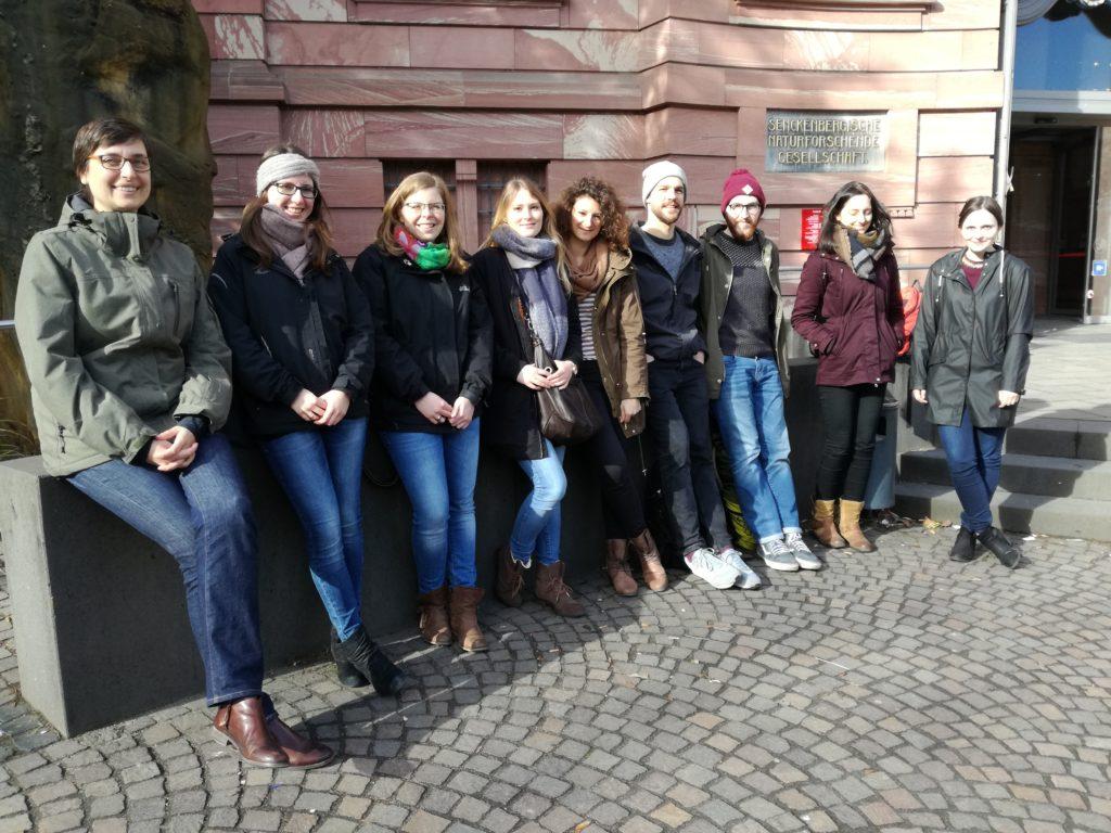 Masterstudierende am Senckenberg Museum