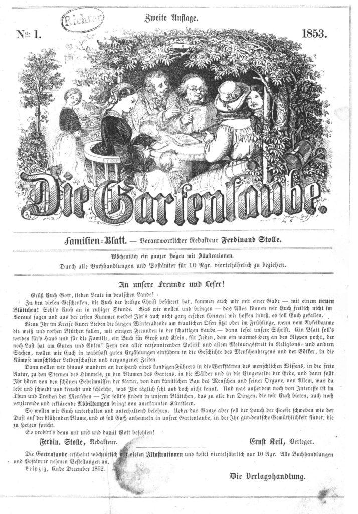 """Illustration aus """"Die Gartenlaube"""""""
