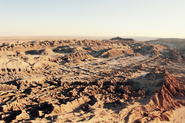 Zerfurchte Wüstenlandschaft