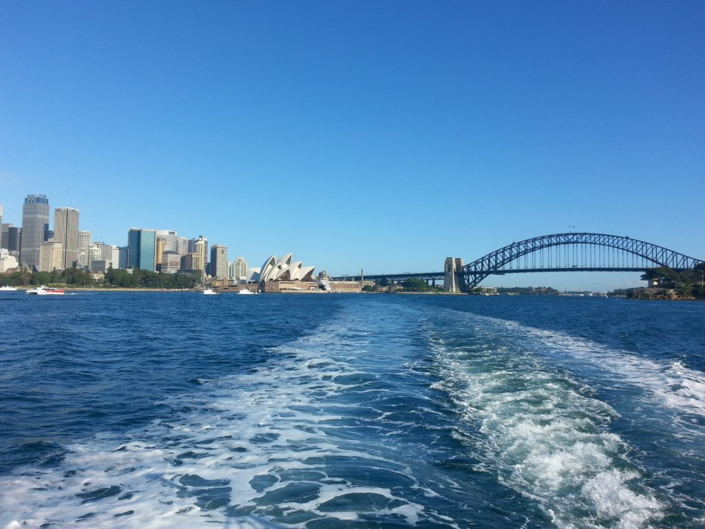 Blick auf Bucht von Sydney