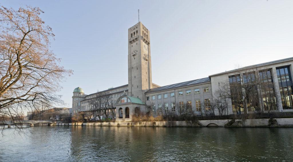 Blick auf Fassade des Deutschen Museums