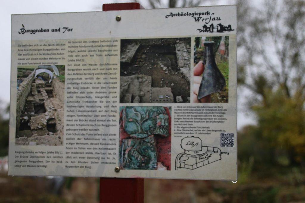 Hinweisschild zur Burg Wersau