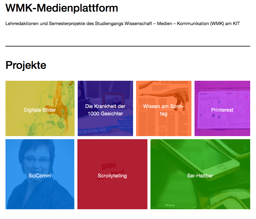 Screenshot der WMK-Medienplattform