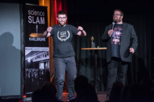 Vortragender beim Science Slam