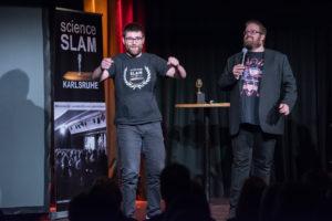 Vortragender beim Science Slam